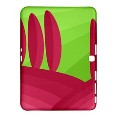 Green and red landscape Samsung Galaxy Tab 4 (10.1 ) Hardshell Case