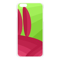 Green and red landscape Apple Seamless iPhone 6 Plus/6S Plus Case (Transparent)