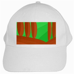 Green and orange landscape White Cap