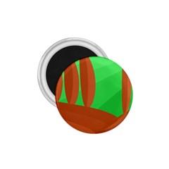 Green and orange landscape 1.75  Magnets
