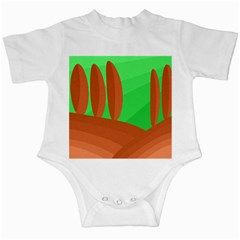 Green and orange landscape Infant Creepers