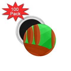 Green and orange landscape 1.75  Magnets (100 pack)