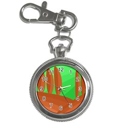 Green and orange landscape Key Chain Watches