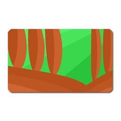 Green and orange landscape Magnet (Rectangular)