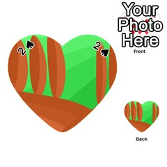 Green and orange landscape Playing Cards 54 (Heart)