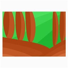 Green and orange landscape Large Glasses Cloth (2-Side)
