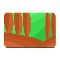 Green and orange landscape Plate Mats