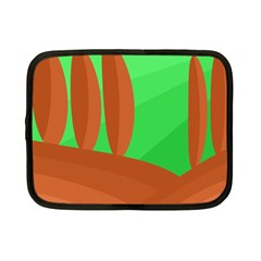 Green and orange landscape Netbook Case (Small)