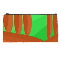 Green and orange landscape Pencil Cases