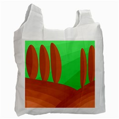 Green and orange landscape Recycle Bag (Two Side)