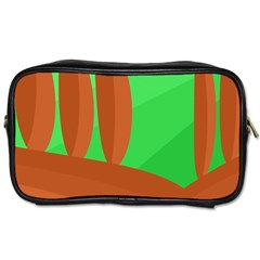 Green and orange landscape Toiletries Bags