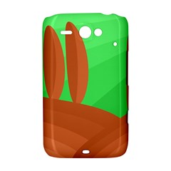 Green and orange landscape HTC ChaCha / HTC Status Hardshell Case