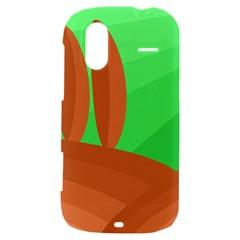 Green and orange landscape HTC Amaze 4G Hardshell Case