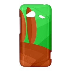 Green and orange landscape HTC Droid Incredible 4G LTE Hardshell Case
