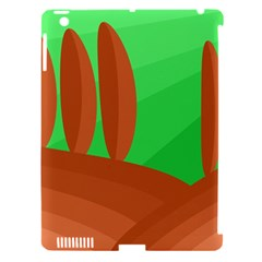 Green and orange landscape Apple iPad 3/4 Hardshell Case (Compatible with Smart Cover)