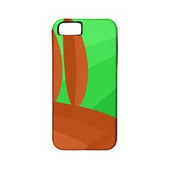 Green and orange landscape Apple iPhone 5 Classic Hardshell Case (PC+Silicone)