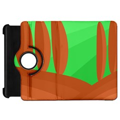 Green and orange landscape Kindle Fire HD Flip 360 Case