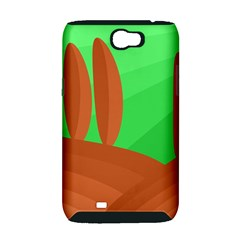 Green and orange landscape Samsung Galaxy Note 2 Hardshell Case (PC+Silicone)