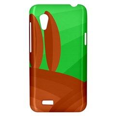 Green and orange landscape HTC Desire VT (T328T) Hardshell Case