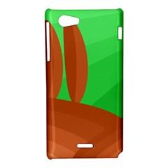 Green and orange landscape Sony Xperia J