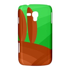 Green and orange landscape Samsung Galaxy Duos I8262 Hardshell Case