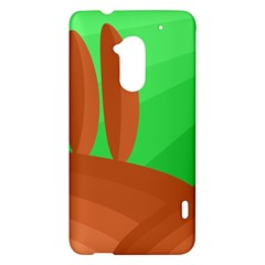 Green and orange landscape HTC One Max (T6) Hardshell Case