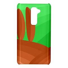 Green and orange landscape LG G2