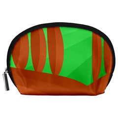 Green and orange landscape Accessory Pouches (Large)