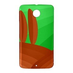 Green and orange landscape Nexus 6 Case (White)