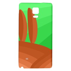 Green and orange landscape Galaxy Note 4 Back Case