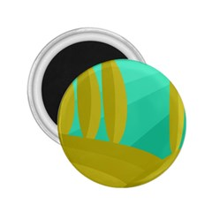 Green and yellow landscape 2.25  Magnets