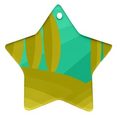 Green and yellow landscape Ornament (Star)