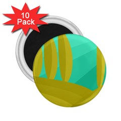 Green and yellow landscape 2.25  Magnets (10 pack)
