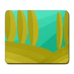 Green and yellow landscape Large Mousepads