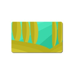 Green and yellow landscape Magnet (Name Card)