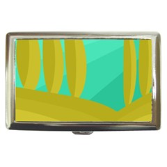 Green and yellow landscape Cigarette Money Cases