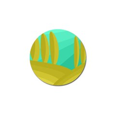 Green and yellow landscape Golf Ball Marker (4 pack)