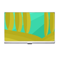 Green and yellow landscape Business Card Holders