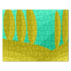 Green and yellow landscape Rectangular Jigsaw Puzzl