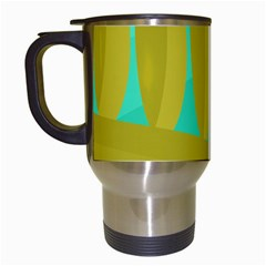 Green and yellow landscape Travel Mugs (White)