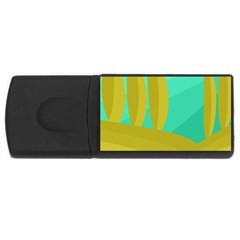 Green and yellow landscape USB Flash Drive Rectangular (4 GB)