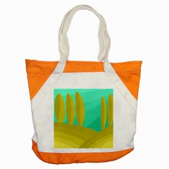 Green and yellow landscape Accent Tote Bag