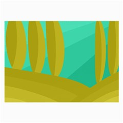 Green and yellow landscape Large Glasses Cloth (2-Side)