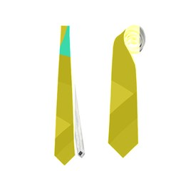 Green and yellow landscape Neckties (One Side)
