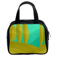 Green and yellow landscape Classic Handbags (2 Sides)