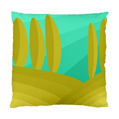 Green and yellow landscape Standard Cushion Case (One Side)