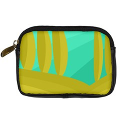 Green and yellow landscape Digital Camera Cases