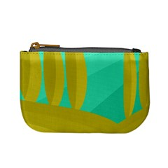 Green and yellow landscape Mini Coin Purses