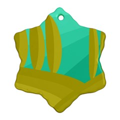 Green and yellow landscape Ornament (Snowflake)