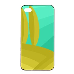 Green and yellow landscape Apple iPhone 4/4s Seamless Case (Black)
